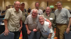 From left fron row – John Ohlin, Dean West and John Hill. Back row from left – Norris Darrall., Kermit Hilles, Patrick Lebeau and Cory Ring