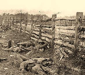 Across a Deadly Field – ET Heavy Fence Photo: US Library of Congress