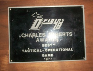 Charles Roberts Awards ~ Best Tactical - Operational Game 1977