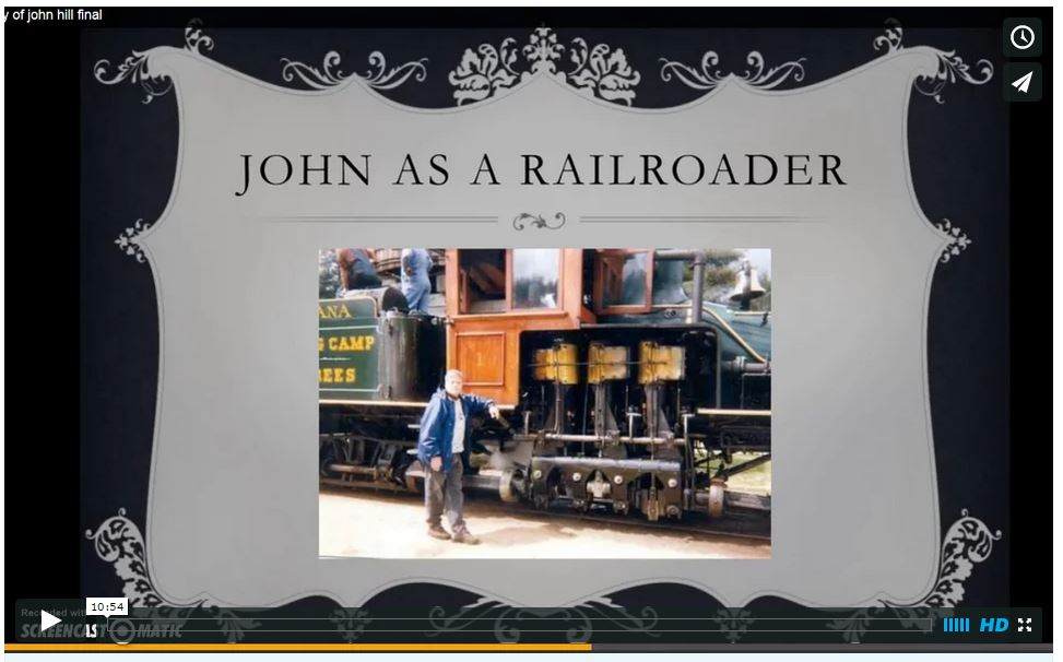 Slideshow PPT viewed at  John Hill's Memorial Service in January 2015